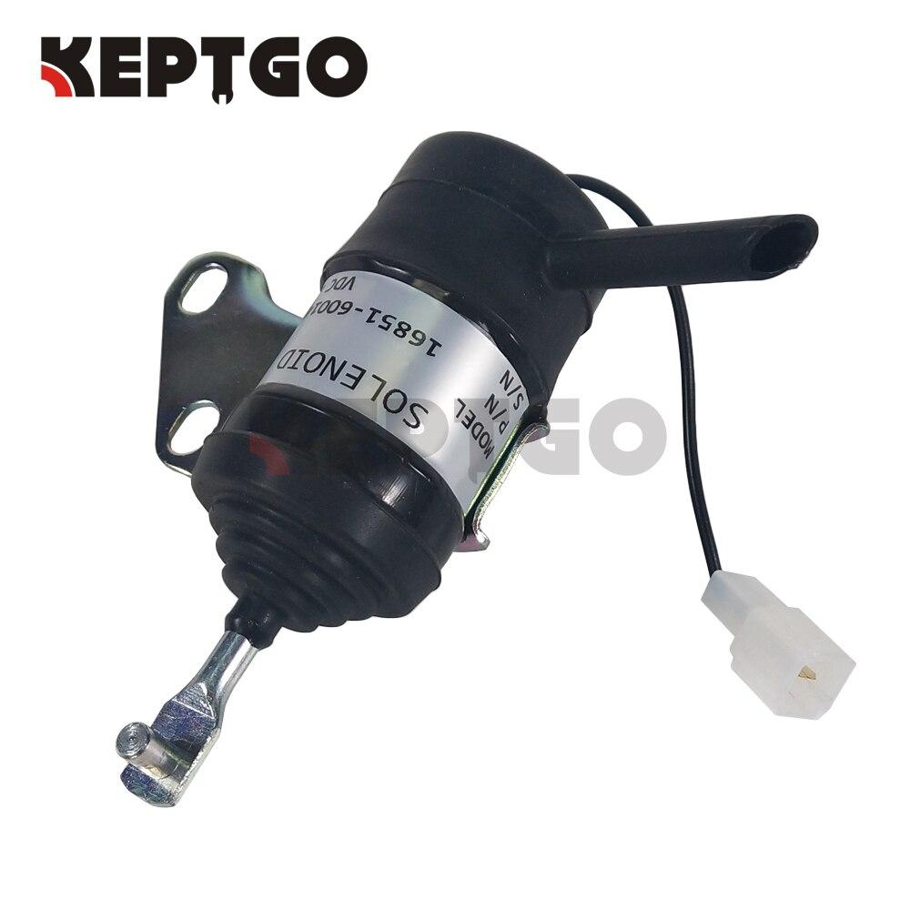 Fuel Shutoff Solenoid 16851-60014 for Kubota Tractor D902 D722 Excavator RTV900
