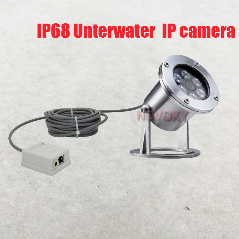 Free shipping 304 Stainless Steel 1080P 2mp 4mp IP68 Underwater POE IP Camera Underwater Camera Line 5M 1M  Explosion proof-in Surveillance Cameras from Security & Protection
