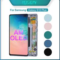 100% OEM AMOLED Display for SAMSUNG Galaxy S10 + Plus Super AMOLED Display Touch Screen Digitizer Assembly Replacement With Gift