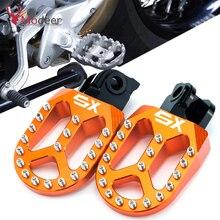 For KTM 65SX 85SX 125SX 250SX 65/85/125/250 SX 250SX F 250 350 450 SX F SXF CNC motorcycle Billet wide footrest pedals footrest