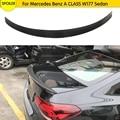 Задний багажник спойлер крыло для Mercedes-Benz A CLASS W177 седан 2019 2020 углеродное волокно задний спойлер крыло багажник спойлер