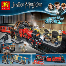 Hogwarts Expres Dumbledore Voldemort Harri Potters Train Compatible Legolys Technic Building Blocks Figure Toy Gift for Children цены онлайн