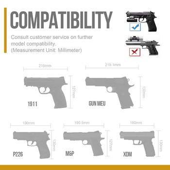 OneTigris Tactical Gun Holster Molle Modular Belt Pistol Holster for Right Handed Shooters Glock 17 19 22 23 31 32 34 35 3