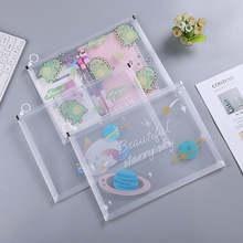 Прозрачная папка для файлов a4 из ПВХ утолщенная сумка на молнии