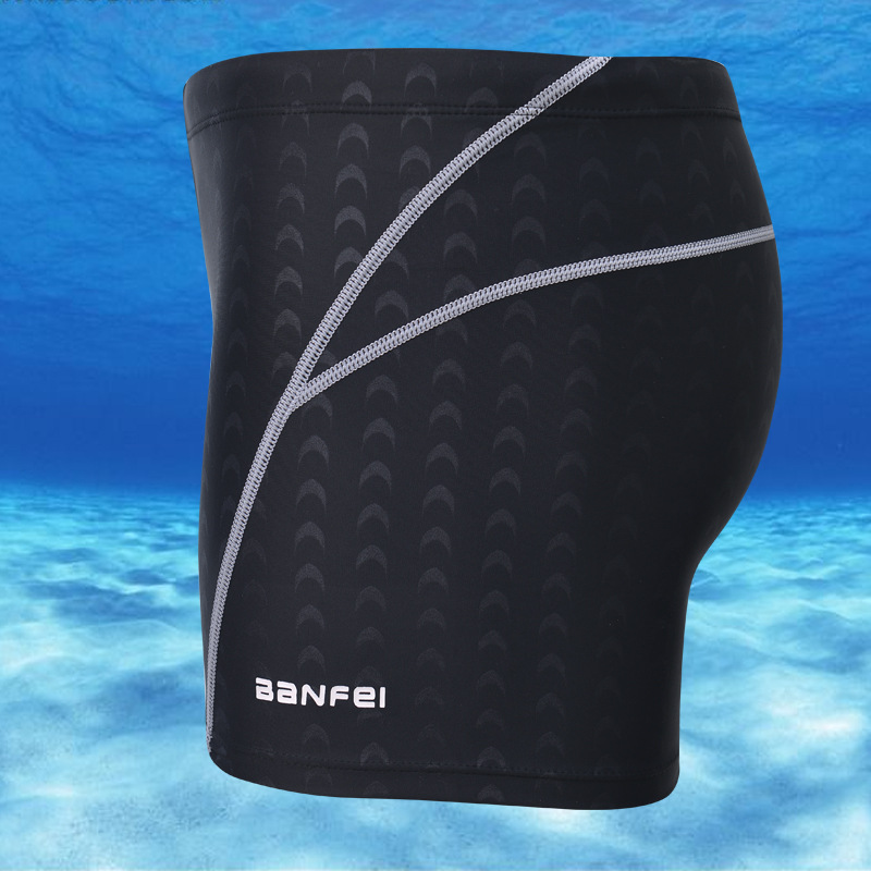 New Style Banfi Faux Sharkskin Waterproof Men Game Swimming Trunks Hot Springs Men's Swimwear Boxer Swimming Trunks