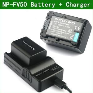 NP-FV50 NP FV50 NPFV50 Digital Camera Battery + Charger for Sony NP FV30 FV40 FV70 FV100 FV50A FV70A FV100A DCR SR15 SR21