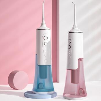 Elektryczny Flosser irygator wodny Cordless irygator doustny 200ml przenośne wodoodporny do czyszczenia zębów 3-tryb USB wielokrotnego ładowania potężny czyszczenia tanie i dobre opinie CN (pochodzenie) Elektryczny irygator do jamy ustnej dla dorosłych Teeth Cleaner Dental Flusher akumulator
