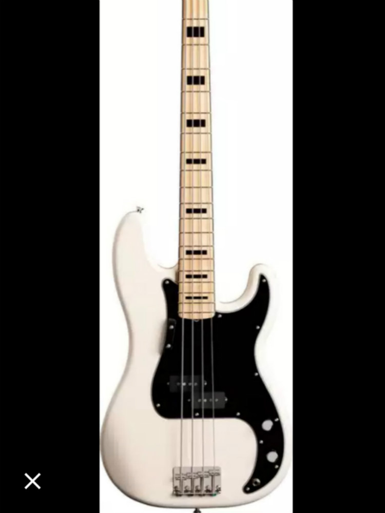 Top Quality FPPB-6004 White Color Solid Body Maple Fretboard 4 Strings  P Electric Bass, Free Shipping