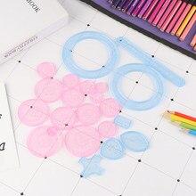 Criativo educacional spirograph desenho brinquedos conjunto engrenagens de bloqueio rodas pintura desenho acessórios brinquedo spirograph