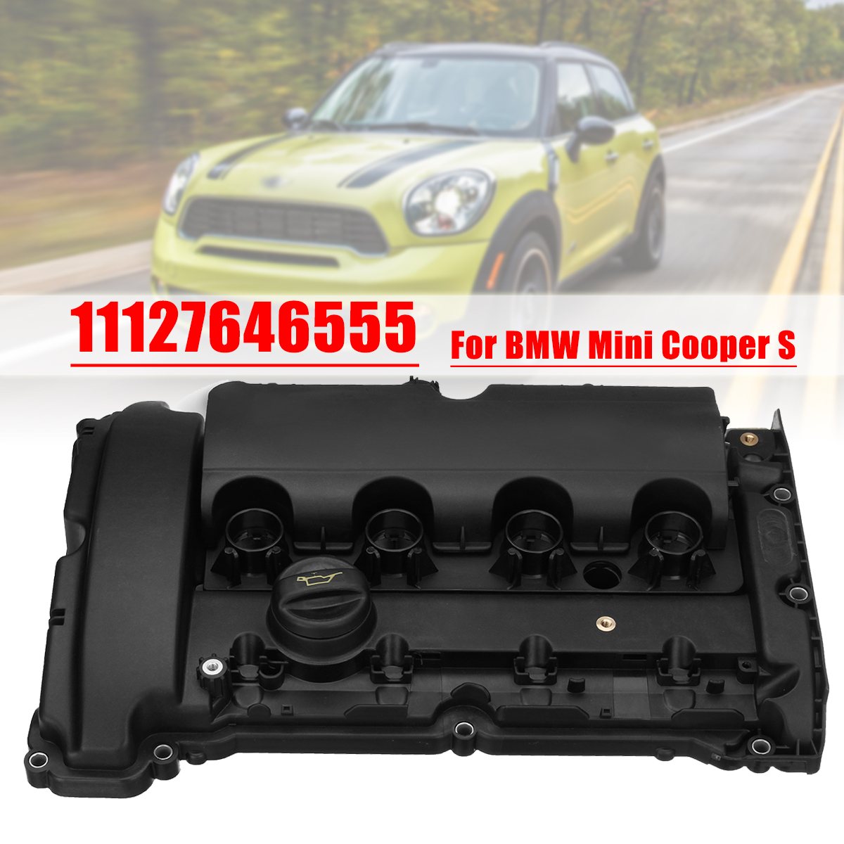 en title1:Engine Valve Cover Gasket Set for BMW for Mini Cooper S R55 R56 R57 R58 11127646555 11127585907 11127572854|Valve Covers| |  - title=