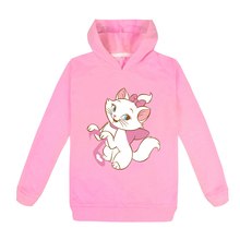 Marie Cat Kids Clothes Long Sleeves Hoodies for Girl Aristocats Cat Hoodies toddler Sweatshirt Cute Baby Autumn Outwear