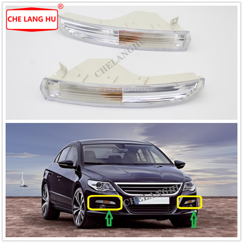 Front Bumper Turn Signal Light For Passat CC 2008 2009 2010 2011 2012 Car-styling Front Turn Signal Lamp Shell Without Bulbs
