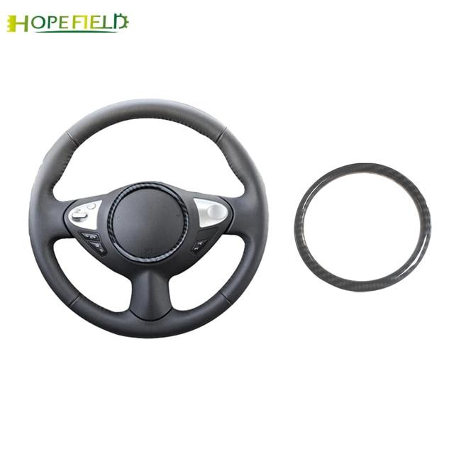 Auto Stuurwiel Cirkel Trim Frame Sticker Carbon Fiber Cover Auto Accessoires Voor Nissan Juke Voor Qashqai J10 Almera N16 note