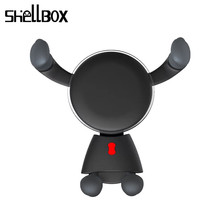 SHELLBOX Cute Qi Wireless Car Charger for iPhone XS Max Samsung S8 Quick Wireless Charging Charger Car Mount Mobile Phone Hold