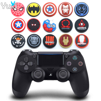 YuXi 2pcs Silicone Thumb Stick Grip Cap Thumbstick Joystick Cover Case For Sony PS3 PS4 Slim Xbox One 360 Switch Pro Controller yuxi 10pcs joystick cap cover analog for ps3 ps4 pro slim controller stick grip for xbox one 360