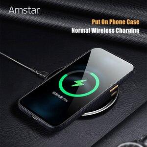 Высококачественный кожаный защитный чехол Amstar из углеродного волокна с рисунком для iPhone 12 11 Pro Max XR XS Max 7 8 Plus SE 2020, чехол ручной работы|Бамперы|   | АлиЭкспресс