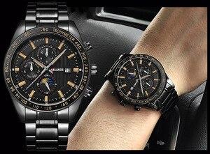 Image 3 - 크리 에이 티브 비즈니스 남성 시계 럭셔리 브랜드 스테인레스 스틸 손목 시계 크로노 그래프 육군 군사 석영 시계 relogio masculino