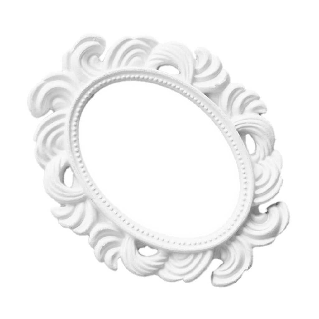 affichage decoratif blanc de cadres de photo de dessus de table de cadre baroque ovale