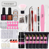 Manicure Kit Poly Gel Kit Clear UV Hard Crystal Jelly Builder Gel Varnish Nail Polish Tools Extension Polygel Set Nail Art Set 1