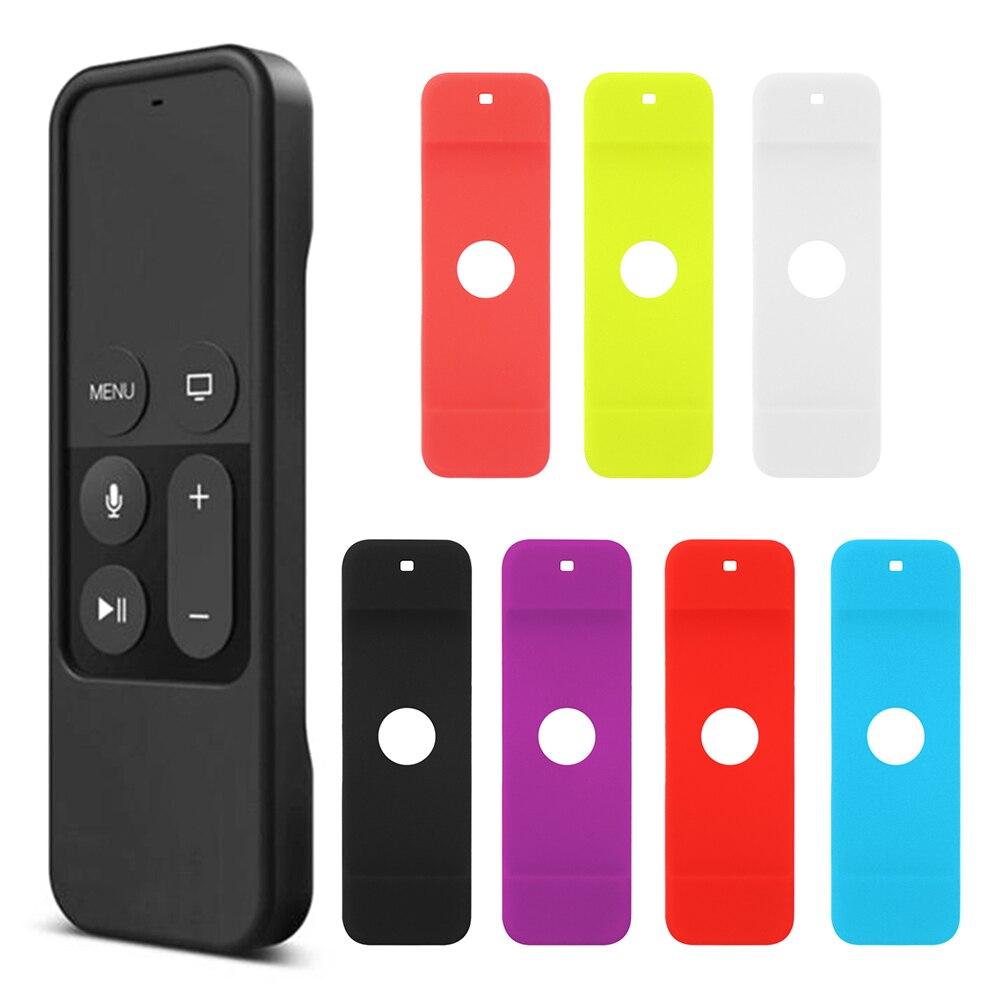 Цветной Противоскользящий силиконовый защитный чехол для Apple TV 4, водонепроницаемый пылезащитный чехол для пульта дистанционного управлен...