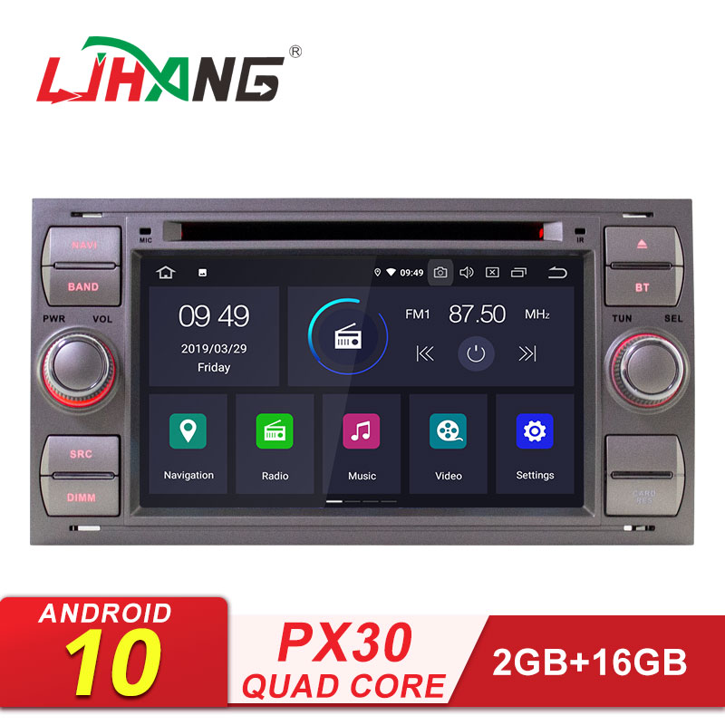 LJHANG 2 Din Car DVD Player Android 10 For <font><b>FORD</b></font> Mondeo/<font><b>Focus</b></font>/Transit/C-MAX/S-MAX/Fiesta Multimedia Car <font><b>Radio</b></font> Stereo Video <font><b>Auto</b></font> image