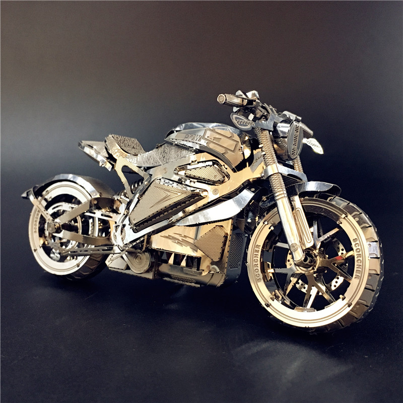 MODEL NANYUAN 3D Metal Puzzle Vengeance Motorcycle Collection Puzzle 1:16 L DIY 3D Laser Cut Model Puzzle Toys For Adult