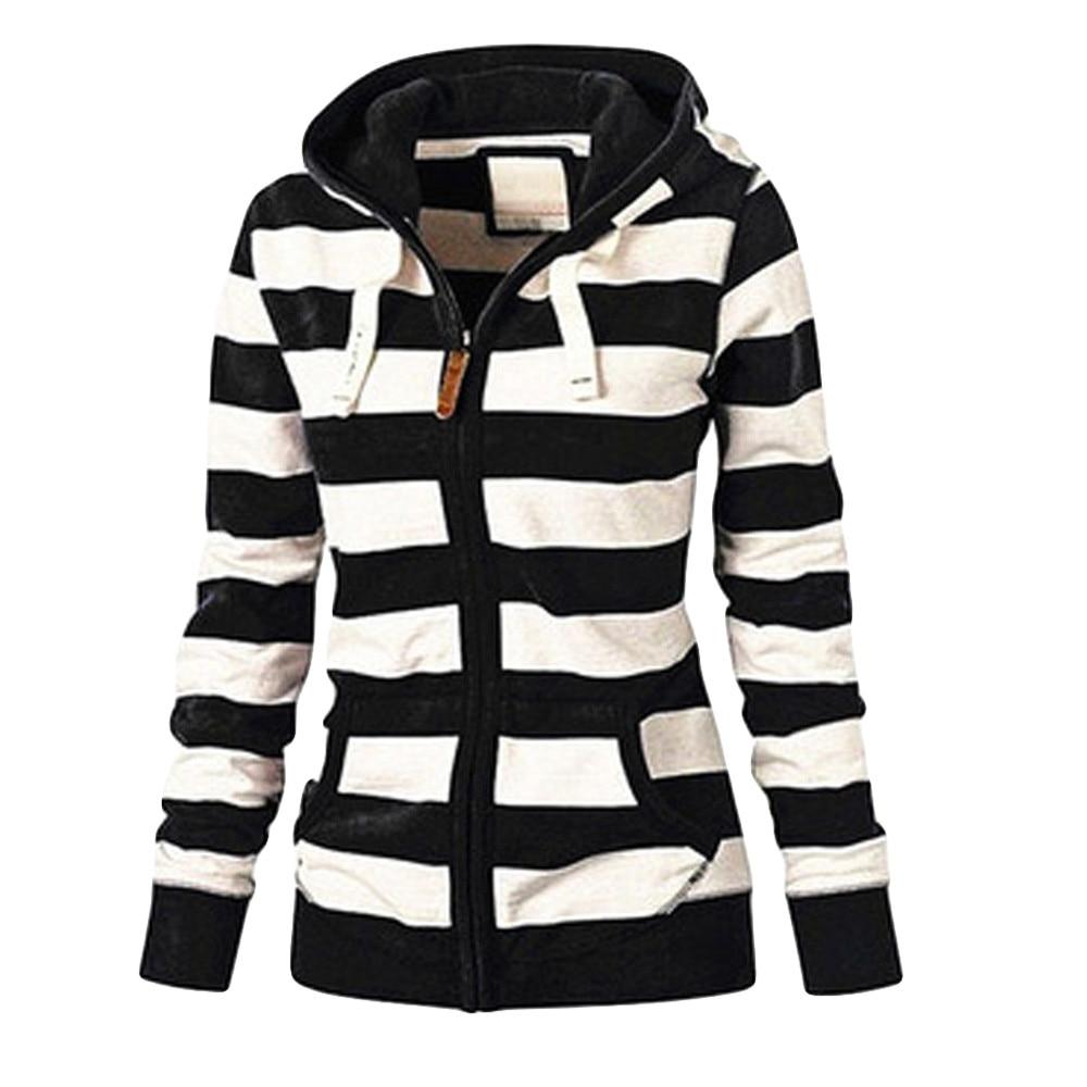 Women Ladies Zipper Tops Hoodie Hooded Sweatshirt Coat Casual Slim Jumper Winter Harajuku Hoodie Trending Product #BL5