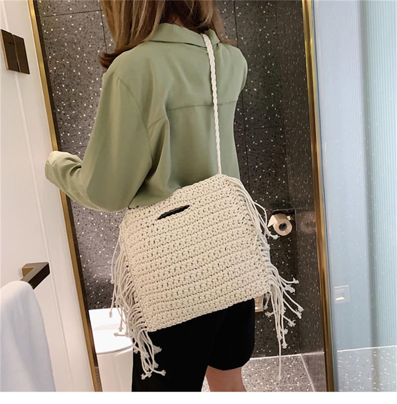 Casual Straw Messenger Bag for Women, Beautiful Straw Hand Bag for Summer 2021 with Shoulder Strap