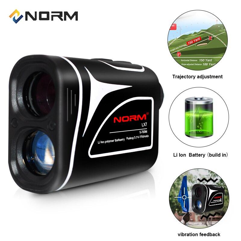 Norm profissional 700m recarregável medidor de distância a laser golf rangefinder com compensação de trajetória sacudida e inclinação