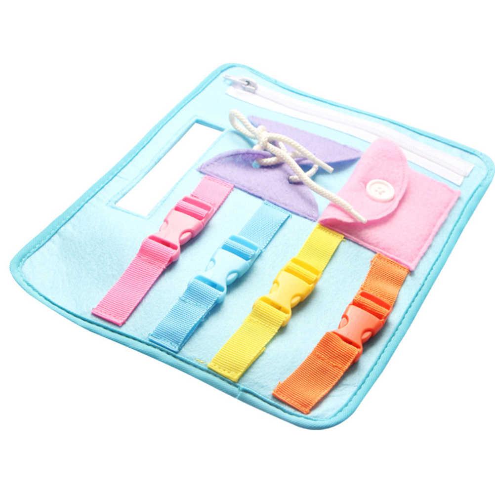 Bambino Precoce Educazione Giocattoli di Abilità di Vita del Vestito di Base a Bordo di Insegnamento Button Zip Lace Up Montessori Bambino Giocattoli di Apprendimento Per I Bambini #10