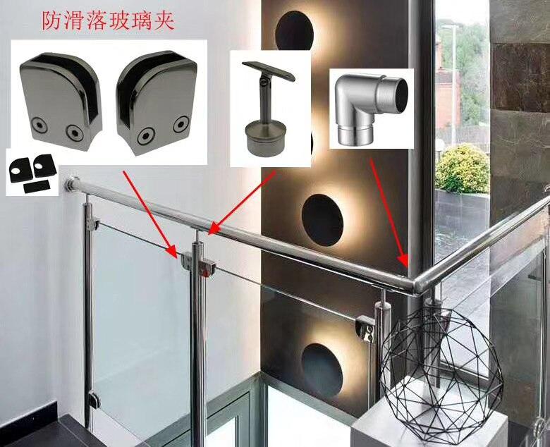 WOLFTEETH 12/piezas acero inoxidable soporte cristal bornes para verja balaustra pasamanos de la escalera plateado