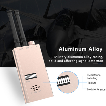Dual Antenna RF Signal Detector Anti Spy Wireless Camera Hidden Cam Len Car GSM GPS Tracker Radio Wave Detection Military Finder 2
