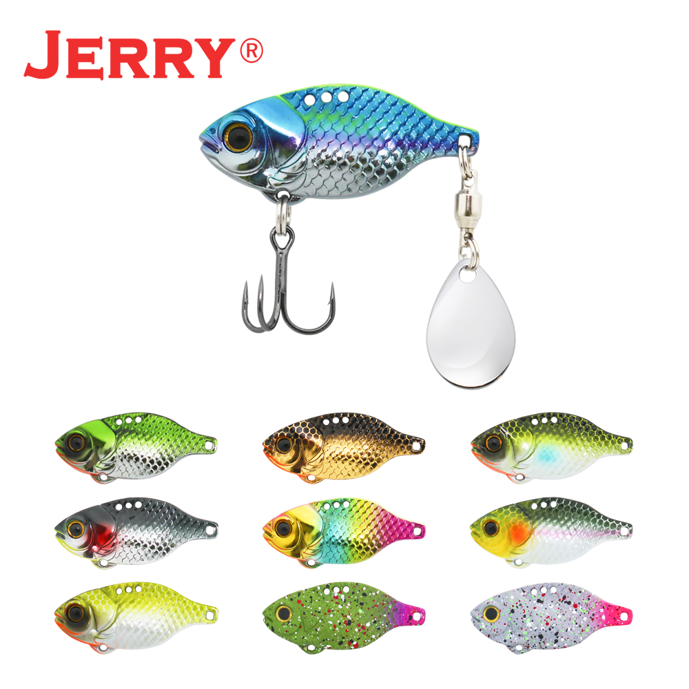 Jerry dory lâmina de metal vib tengsten vibração fiação pesca iscas colorado água salgada isca de água doce por atacado