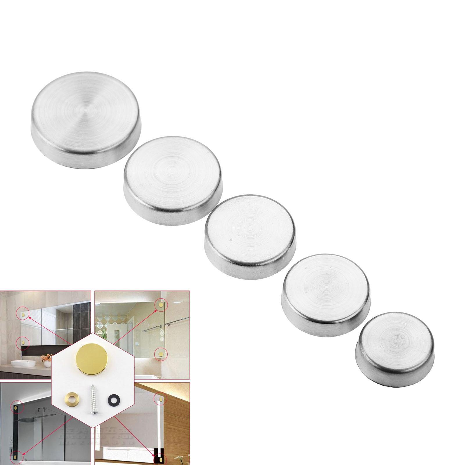 20 pçs de aço inoxidável espelho decorativo parafuso tampa unhas parafuso cobre fixadores & ganchos móveis ferragem 16/18/20/22/25mm