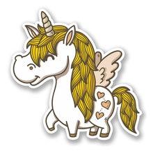 Interesting lovely unicorn cartoon horse colored decoration