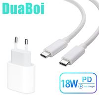 USB C 18W Power Delivery Type C Wall Charger Dual USB C Cable for Motorola Moto G Pro G8 G7 POWER E6 E6s Plus OnePlus 8 7t 6t 6