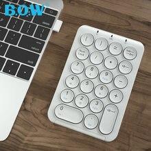 Bow 24 ghz маленькая клавиатура Беспроводная перезаряжаемая