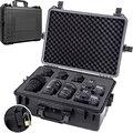Schutz sicherheit Toolbox Ausrüstung koffer Auswirkungen beständig Instrument kunststoff Werkzeug fall Stoßfest kamera box mit schwamm