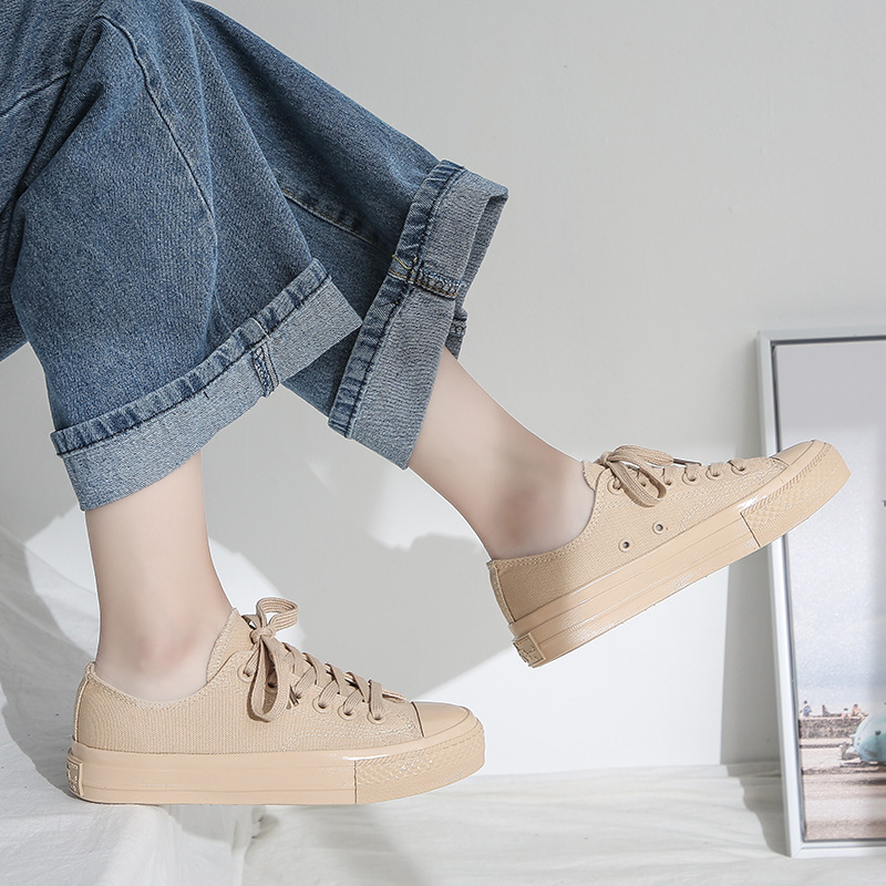 Fashion Spring Autumn Casual Women Shoes Platform Canvas Vulcanized Female Shoes High Quality Flat Women Shoes