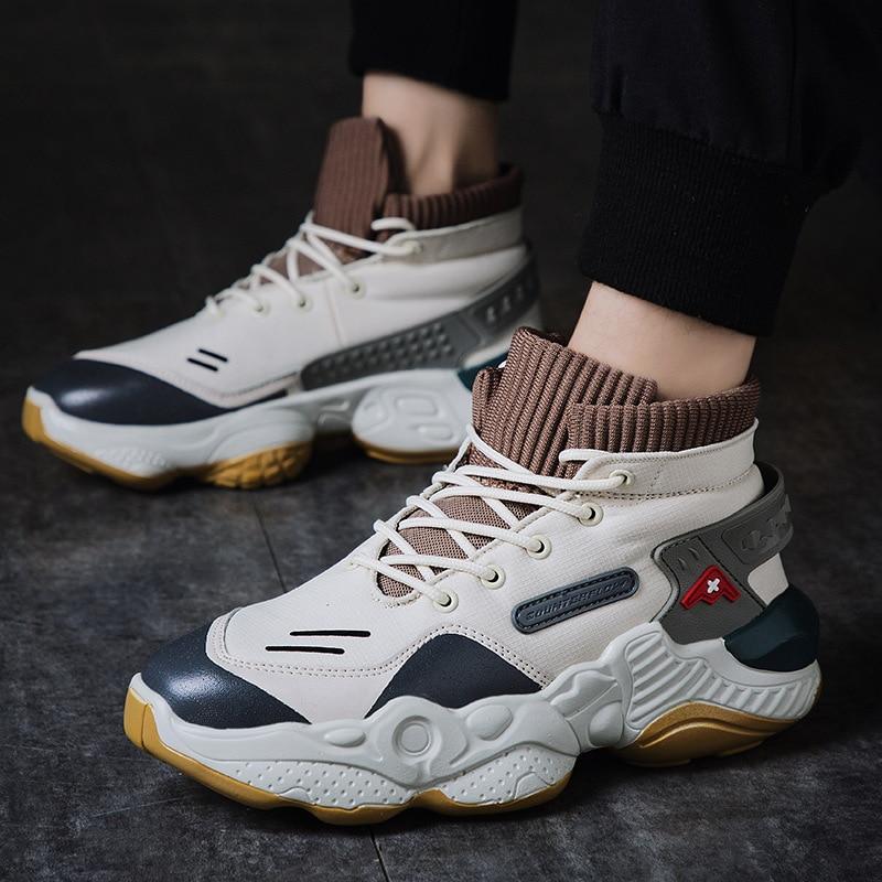 Promo Summer Autumn Hip Hop High Top Platform Sock Sneakers Men  Streetwear Dancing Shoes Men Sports Tenis Basket Chunky Sneakers
