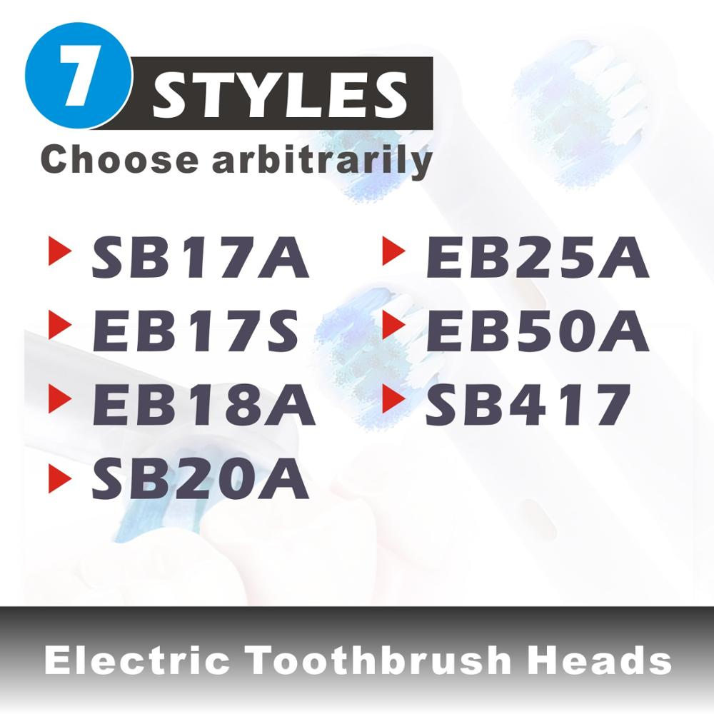 4/6pcs Replacement Brush Heads For Oral B Electric Toothbrush Advance Power/Pro Health/Triumph/3D Excel/Vitality Precision Clean