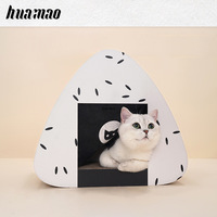 Catundefineds Nest Closed Corrugated Rice Cluster Cat House Cat Grip Board window hammock cat bed house