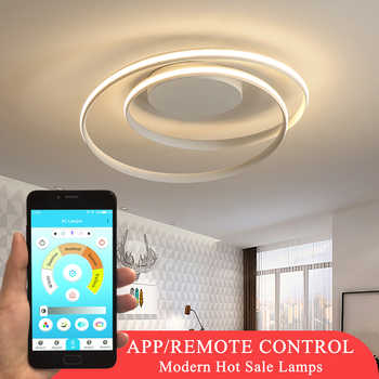Hot Sale Modern Ceiling Lights For Living Room Bedroom Dining Room Kitchen Study Room Round Frame Home Fixtures Ceiling Lamps - Category 🛒 Lights & Lighting