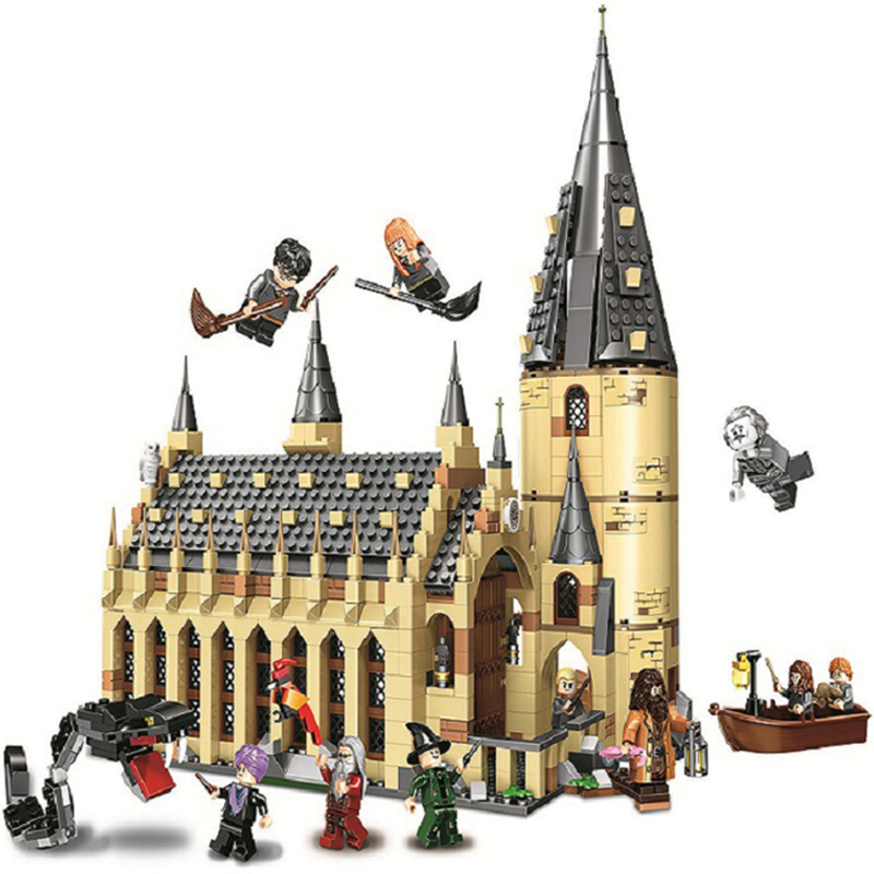 983Pcs Harries Voldemort Potters Hogwartse Castle Great Hall Magic School Compatible Lepining Building Brick Block For Kids Toys