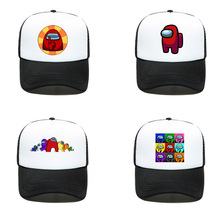 Among Us Game Characters Children Baseball Caps Boy Hat Summer Cartoons Anime Prints Cap Hip-hop Sun Hats Baby Birthday Gifts