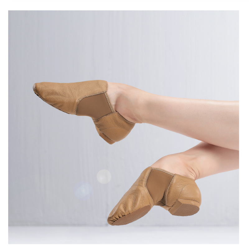 Genuine Leather Stretch Jazz Latin Dance Shoes Salsa For Women Jazz Ballet Shoes Teachers's Dance Sandals Excercise Shoe