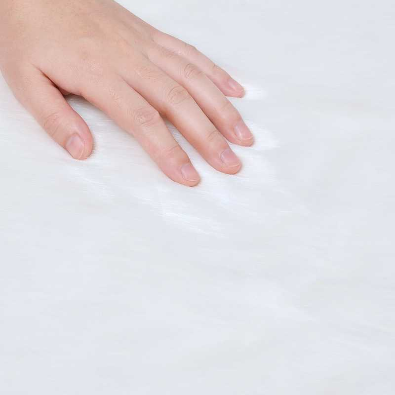 Urijk, alfombra peluda de piel de oveja Artificial, sala de estar alfombras para, alfombras lisas de piel y pelo, alfombras mullidas lavables para dormitorio, Alfombra de imitación