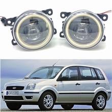 цена на For Ford Fusion Estate JU_ 2002-2015 Car styling New Led Fog Lights 30W DRL Angel Eyes Fog Lamp 2pcs