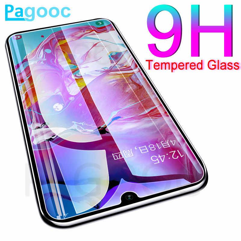 9H زجاج واقي على لسامسونج غالاكسي A20 A30 A40 A50 A60 A70 A80 A90 A10 A20E A40S واقي للشاشة خفف زجاج عليه طبقة غشاء رقيقة