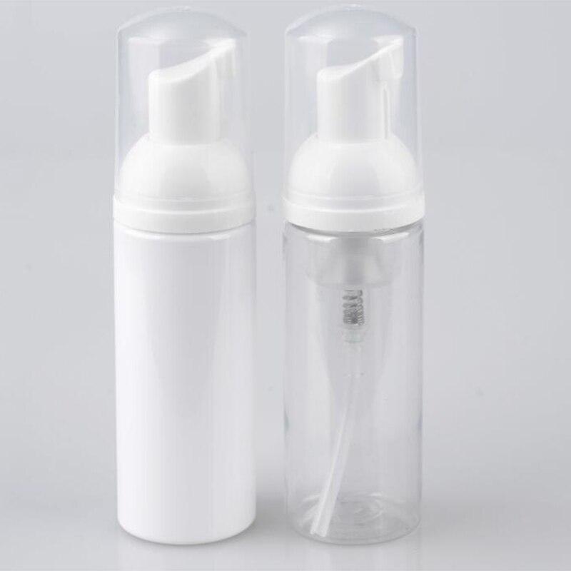 Free Shipping 24pcs/lot 50ml Mini Plastic Foaming Liquid Soap Dispenser White Pump Bottles Small Travel Empty Foam Pump Bottle